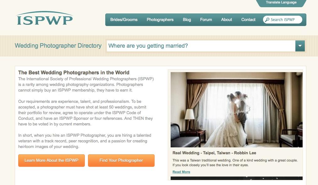 Hochzeitsfotograf in der ISPWP
