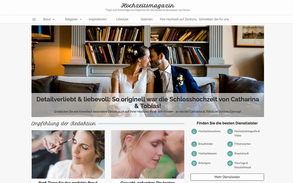 Hochzeit Veröffentlichung auf Zankyou.de