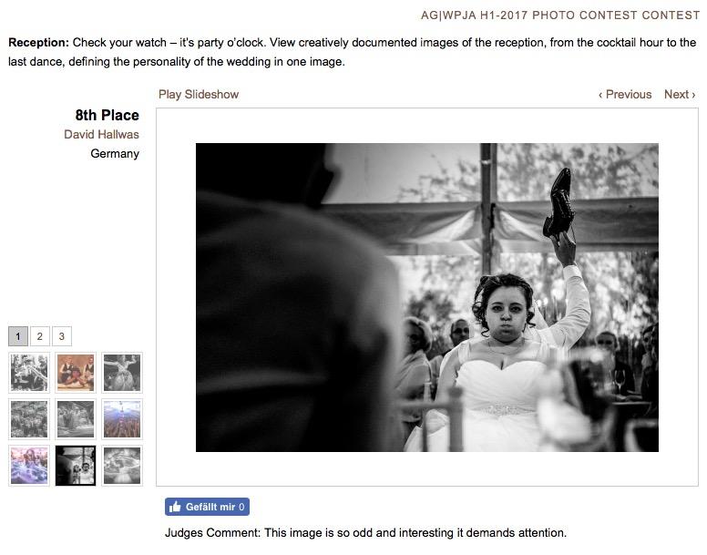 Hochzeitsfotograf Auszeichung