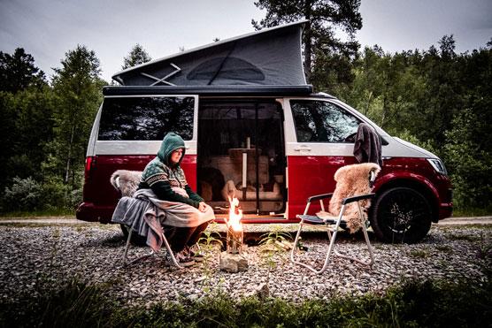Hochzeitsfotograf Norwegen VW Bus